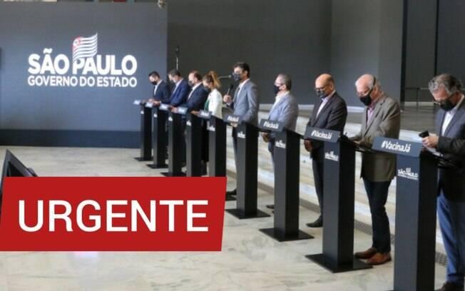 AO VIVO - Assista coletiva do governo de SP sobre reclassificação do Plano SP