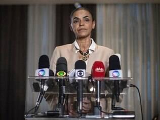 Marina Silva em coletiva no Rio de Janeiro, no dia 17 de setembro de 2014