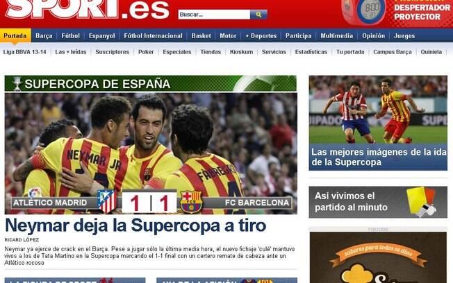 Jornais internacionais destacaram primeiro  gol oficial de Neymar pelo Barcelona
