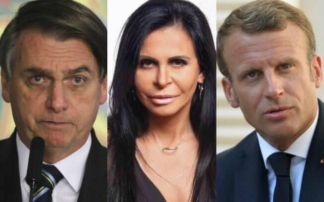Bolsonaro, Gretchen e Macron