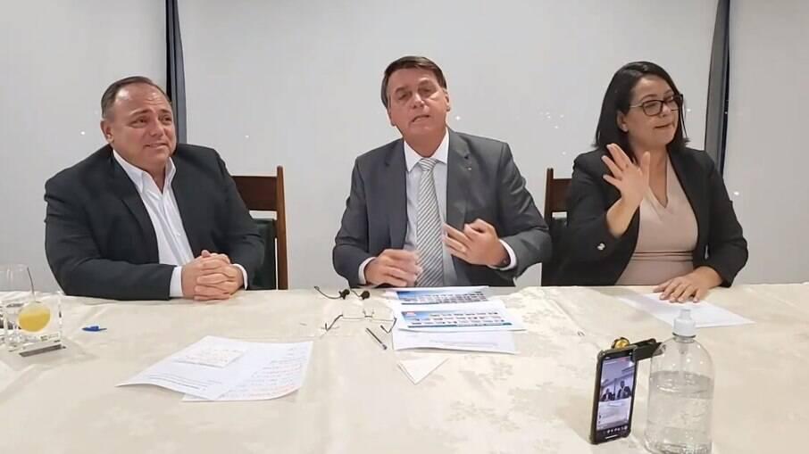 Ministro da Saúde, Edaurdo Pazuello, participou de live com o presidente jair Bolsonaro