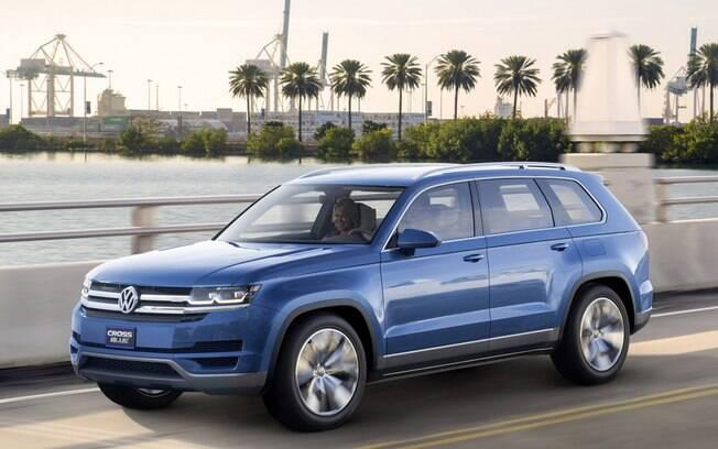 O conceito CrossBlue serviu de base para a criação do Volkswagen Atlas, novo SUV de sete lugares que ficará acima do Touareg.