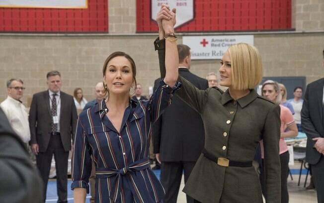 Cena da sexta temporada de House of Cards: Diane Lane desponta como antagonista de Robin Wright