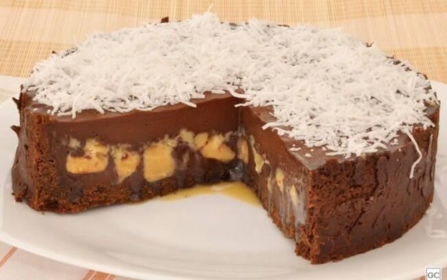 Torta de chocolate e doce de leite