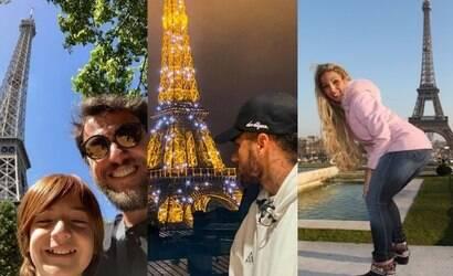 """Lombardi, Neymar e Valesca amam """"turistar"""" em Paris"""