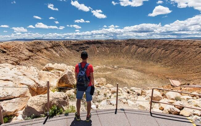 Um dos pontos turísticos mais curiosos de Albuquerque, no estado do Novo Mexico, é a Cratera de Barringer