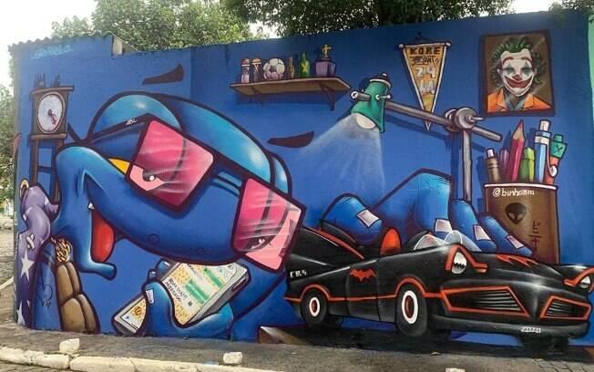 Beco do Batman, em São Paulo, é atualizado com homenagem a Kobe Bryant