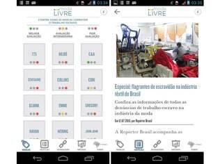 Disponível para Android e iOS gratuitamente, app Moda Livre ajuda o consumidor a monitorar as marcas e as empresas que lutam, ou não, contra o trabalho escravo