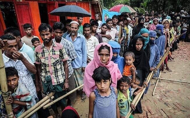 Considerados imigrantes ilegais de Bangladesh, os rohingyas sofrem perseguição do governo de Mianmar