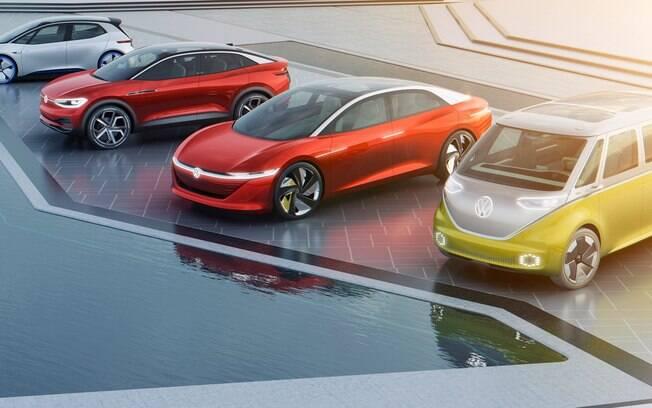 O grupo VW terá uma linha completa de carros elétricos e espera vender 1,5 milhão de veículos/ano no segmento