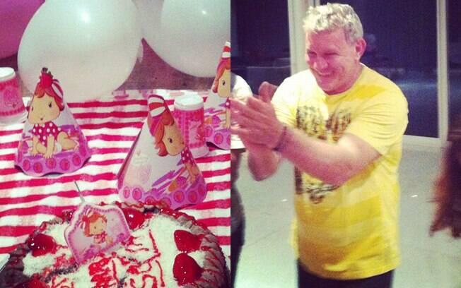 Grazi Massafera postou no Instagram foto da mesa da festa de um mês de Sofia e de seu pai, Gilmar