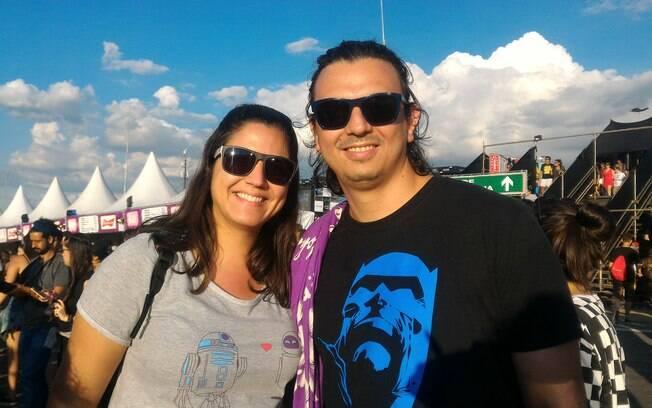 A engenheira Ana Maria e o designer Saulo Vale elegem o show do Pearl Jam como o melhor da edição 2018 do Lollapalooza