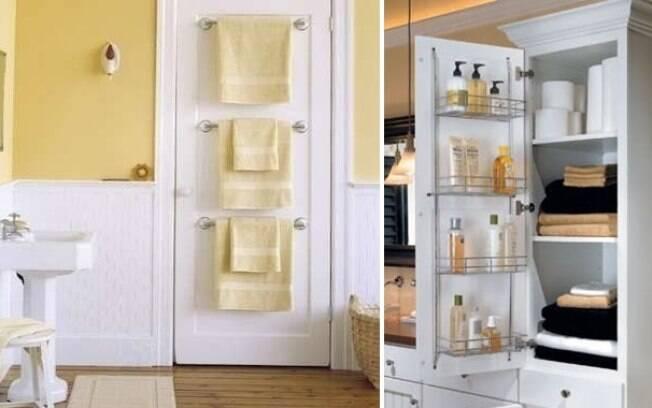 Use todos os cantinhos do banheiro para armazenar objetos