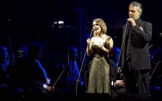 Sandy cantou para 81 mil pessoas ao lado de Andrea Bocelli, em Belo Horizonte, Minas Gerais