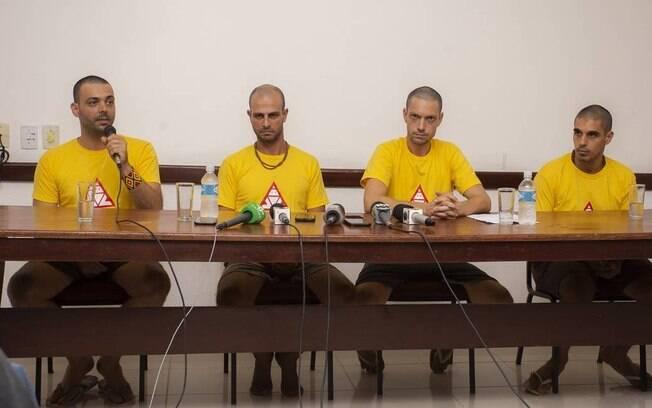 Os brigadistas de Alter do Chão Gustavo de Almeida Fernandes, Marcelo Aron Cwerver, Daniel Gutierrez Govino e João Victor Pereira Romano