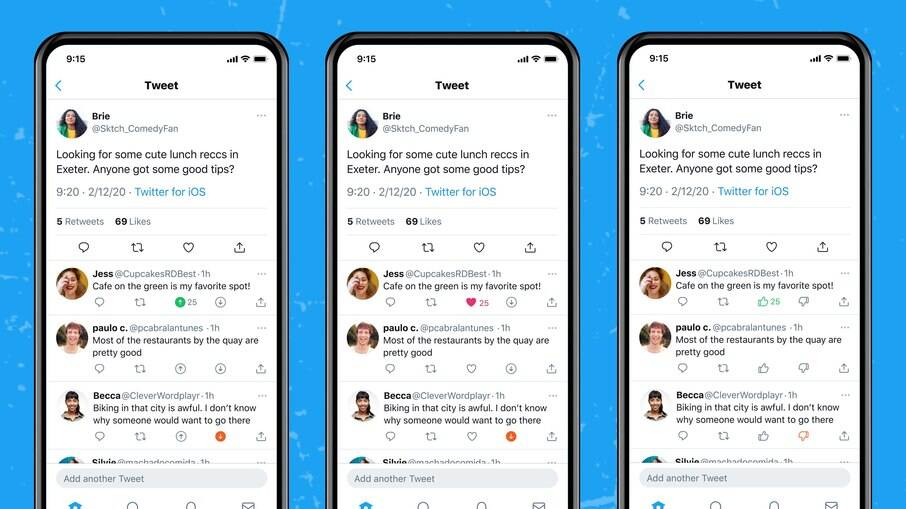 Twitter testa botões de like e deslike