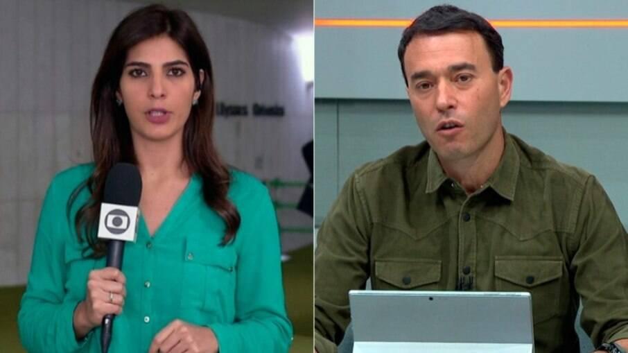 Andréia Sadi e André Rizek divertem as redes após a eliminação do São Paulo na Copa do Brasil