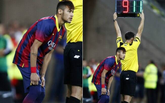 Neymar entrou no segundo tempo do amistoso  contra Lechia Gdansk e fez sua estreia pelo  Barcelona na terça-feira (30/07)