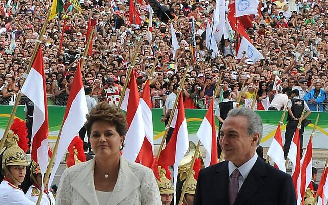 Vermelho foi predominante na primeira cerimônia de posse de Dilma Rousseff, em 2011