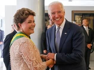 Joe Biden participou da posse da presidente Dilma, em 1º de janeiro de 2015