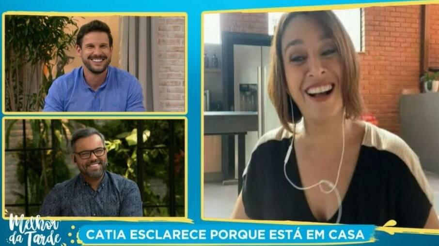 Cátia Fonseca apresenta programa de casa após marido testar positivo para Covid-19