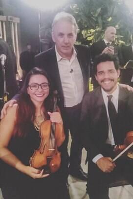 Otávio Mesquita também marcou presença na cerimônia. Foto: Reprodução/Instagram