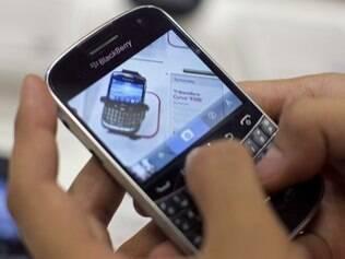 BlackBerry está em queda nos EUA