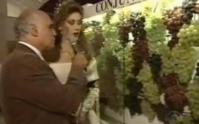 O repórter Lasier Martins deu um susto na produção durante a cobertura da Festa da Uva