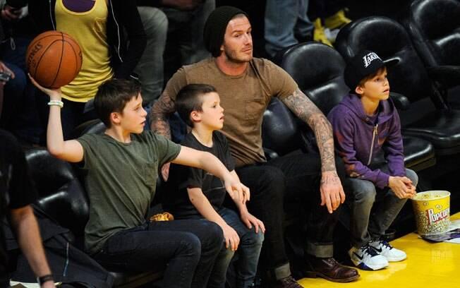 David Beckham e os filhos