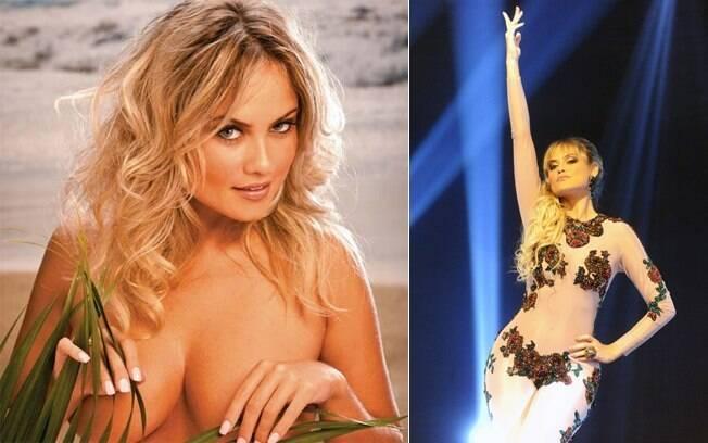 """Em ensaio sensual para a revista VIP e como assistente de palco em """"O Astro"""""""
