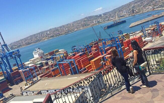 Vista do porto de Valparaíso