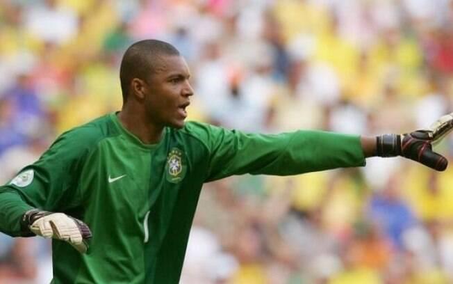Dida em campo pela seleção brasileira