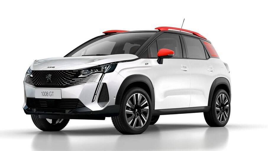 Projeção antecipa visual do Peugeot 1008, que será lançado no Brasil em 2025