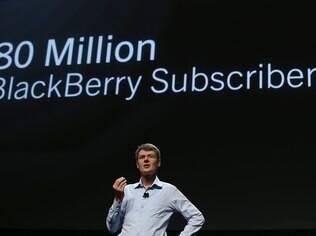 Heins, da RIM: BlackBerry possui 80 milhões de usuários