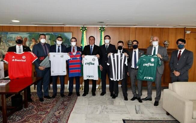 Presidentes de alguns clubes já estiveram com Bolsonaro em Brasília em apoio à MP