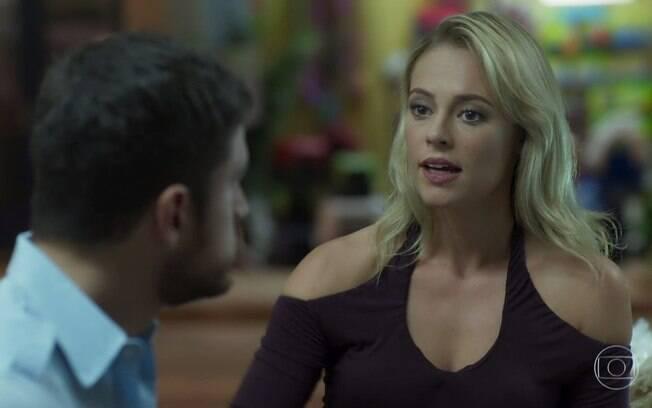 Jeiza conversa com Zeca e indica uma advogada para ajudá-lo a anular casamento com Ritinha