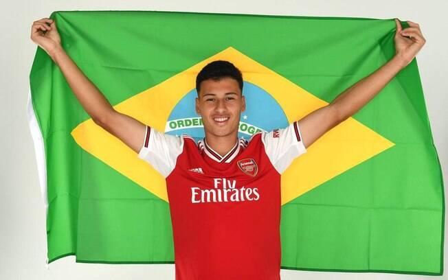 Gabriel Martinelli, do Arsenal, estará no Campeonato Inglês de 2019/2020