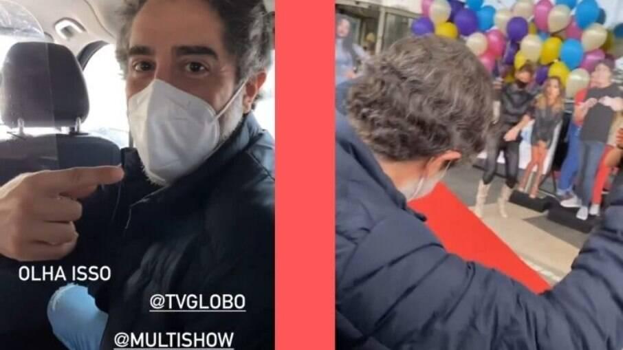 Marcos Mion foi recebido com carro de som na Globo