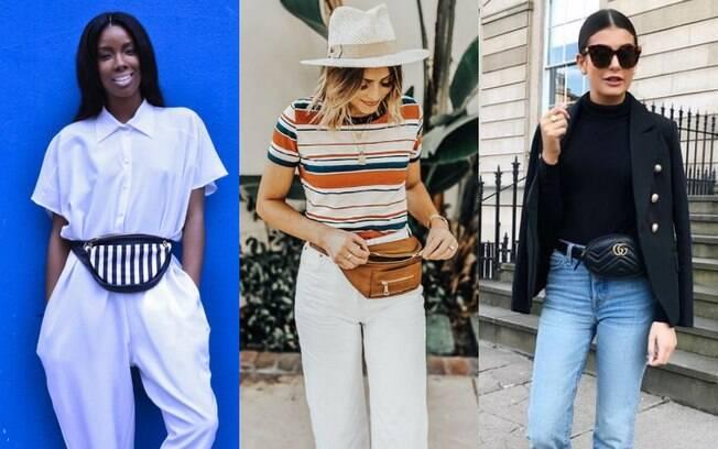 Uma pochete nos looks com cinto é uma ideia para aqueles dias em que você não quer levar bolsa e, ainda, manter o estilo