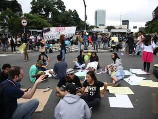 Protesto contra Alckmin provoca caos