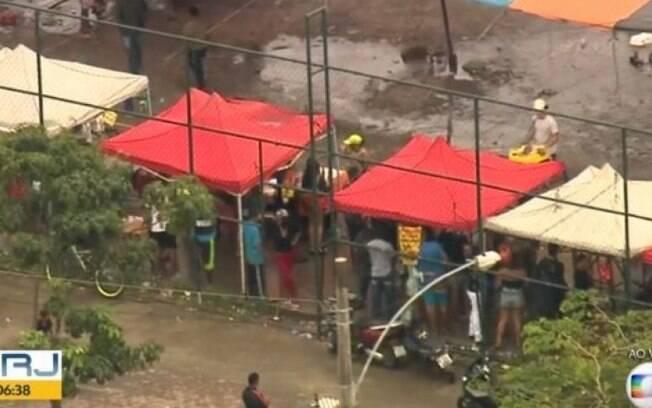 Polícia Militar fez operação para coibir um baile funk na Cidade de Deus
