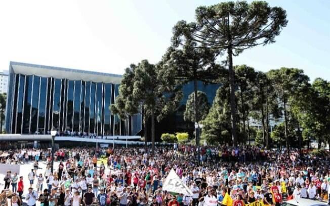 Professores do Paraná em greve