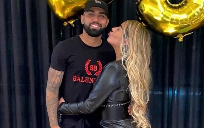 Gabigol e Rafaella. Ela estaria grávida do atacante do Flamengo