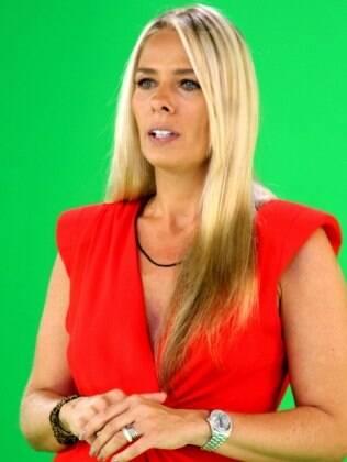 Adriane Galisteu em gravação do