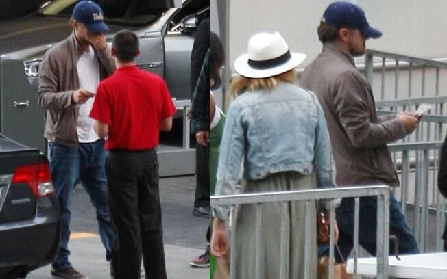 Leonardo Di Caprio e Blake Lively chegam ao show de Stevie Wonder juntos