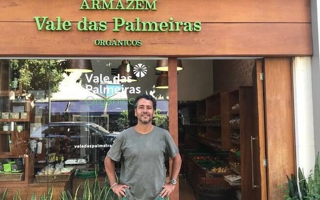 Marcos Palmeiras é dono da marca Armazém Vale das Palmeiras, com produtos orgânicos da Fazenda Vale das Palmeiras