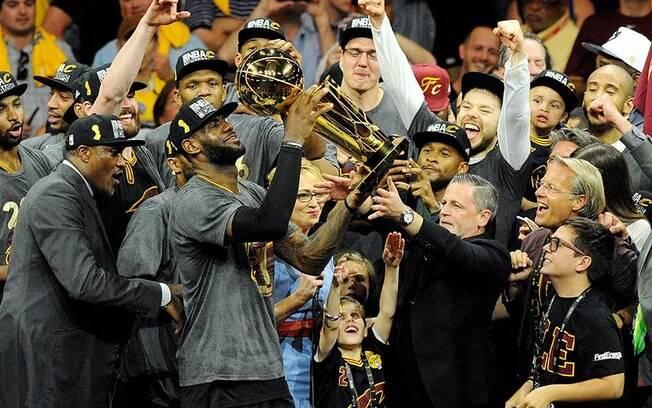 LeBron James levou o Cavaliers ao seu primeiro título da NBA