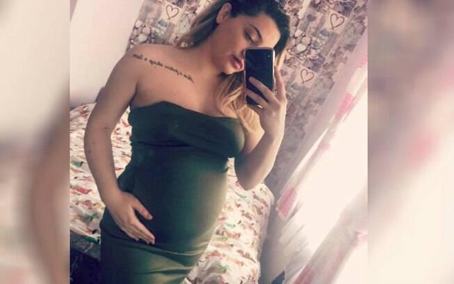 Mulher costumava postar imagens da gravidez nas redes sociais