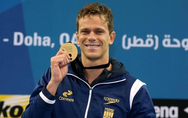 Cesar Cielo: o nadador vai priorizar a disputa do Mundial de Natação, em Kazan, na Rússia. Foto: Satiro Sodré/Divulgação