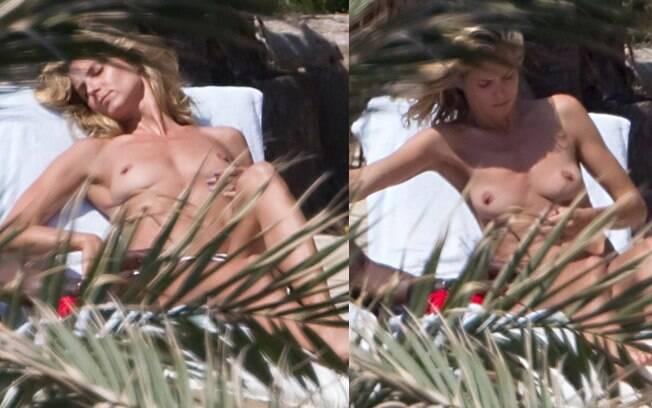 Heidi Klum faz topless em Ibiza